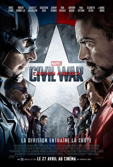 affiche du film Captain América Civil War
