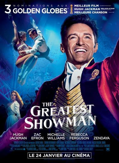 affiche Ciné Région The Greatest Showman